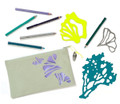 Art Stencils & Pencils Set - Ocean