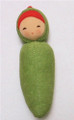Organic Cotton Soft  Baby Rattle - Peapod