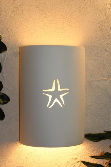 Starfish Ceramic Light Fixture
