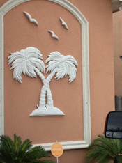 4' Double Palm Stucco Art