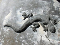 4' Lizard Stucco Art