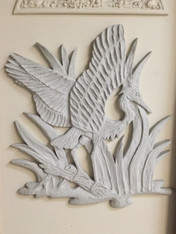 Winged Heron Stucco Art