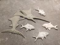 Marlin Stucco Art (bait fish extra)