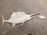 Sailfish Stucco Art (bait fish extra)