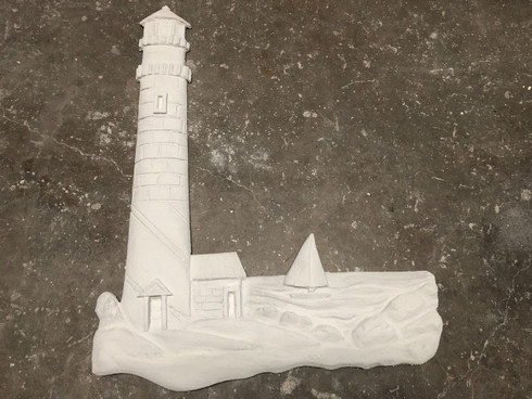 """All of our sculptures are only 2"""" in dept. every piece is base coated before it is shipped at no charge. All Stucco art must be stuccoed before it is installed so it can hold up to the elements. You can use your stucco so it matches exactly. We charge 50 dollars to stucco your art piece before we ship. Our stucco is WHITE with a fine sandy texture but can be painted with an exterior acrylic paint. (Most people use a mat finish."""