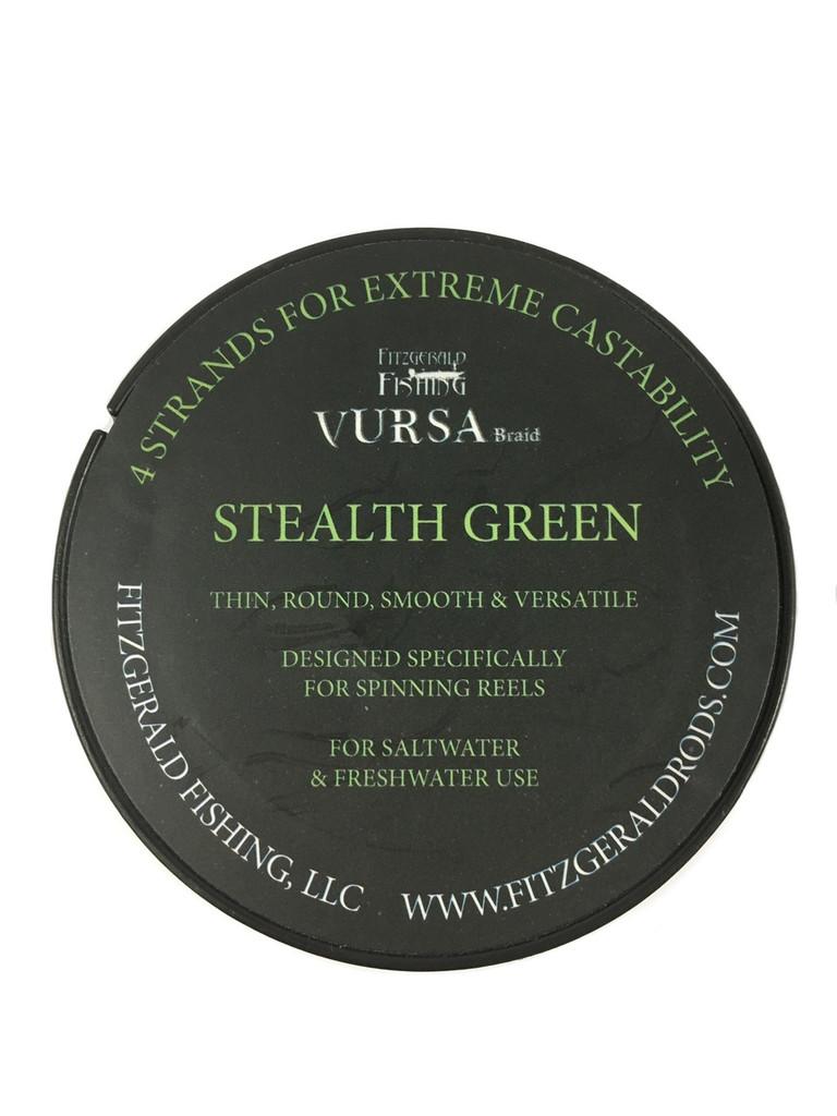 Vursa Braid Spinning 20 lb Stealth Green