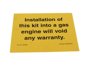 GENERAC WARRANTY NOTIFICATION 0F6085