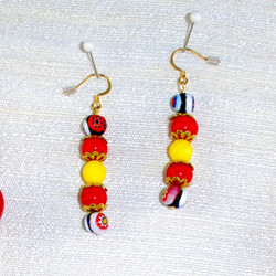 Close up view of Earrings