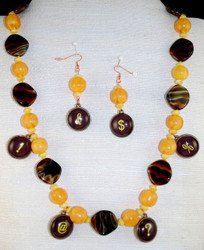 Full view of necklace set