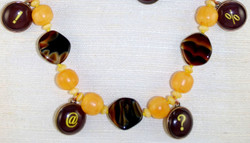 Detailed view of beads