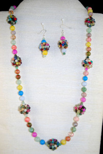 Front full view of necklace set