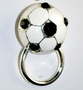 3/4 view of Soccer pin