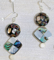 Close up view of pierced earrings