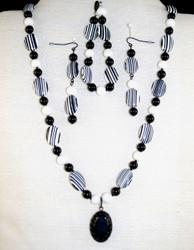 Full view of Bracelet,Earrings & Necklace