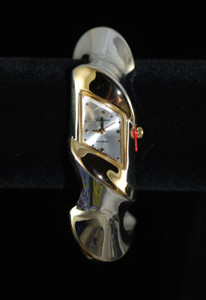 Front view of Twist cuff Watch Bracelet