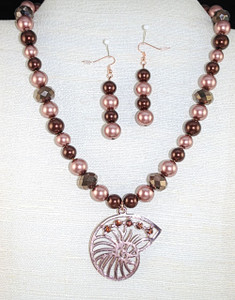 Full view of Shell necklace set