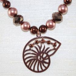 Beautiful Shell pendant close up