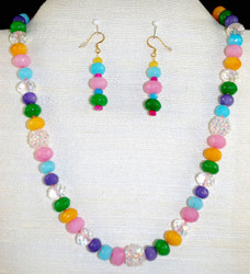 Full front of necklace set