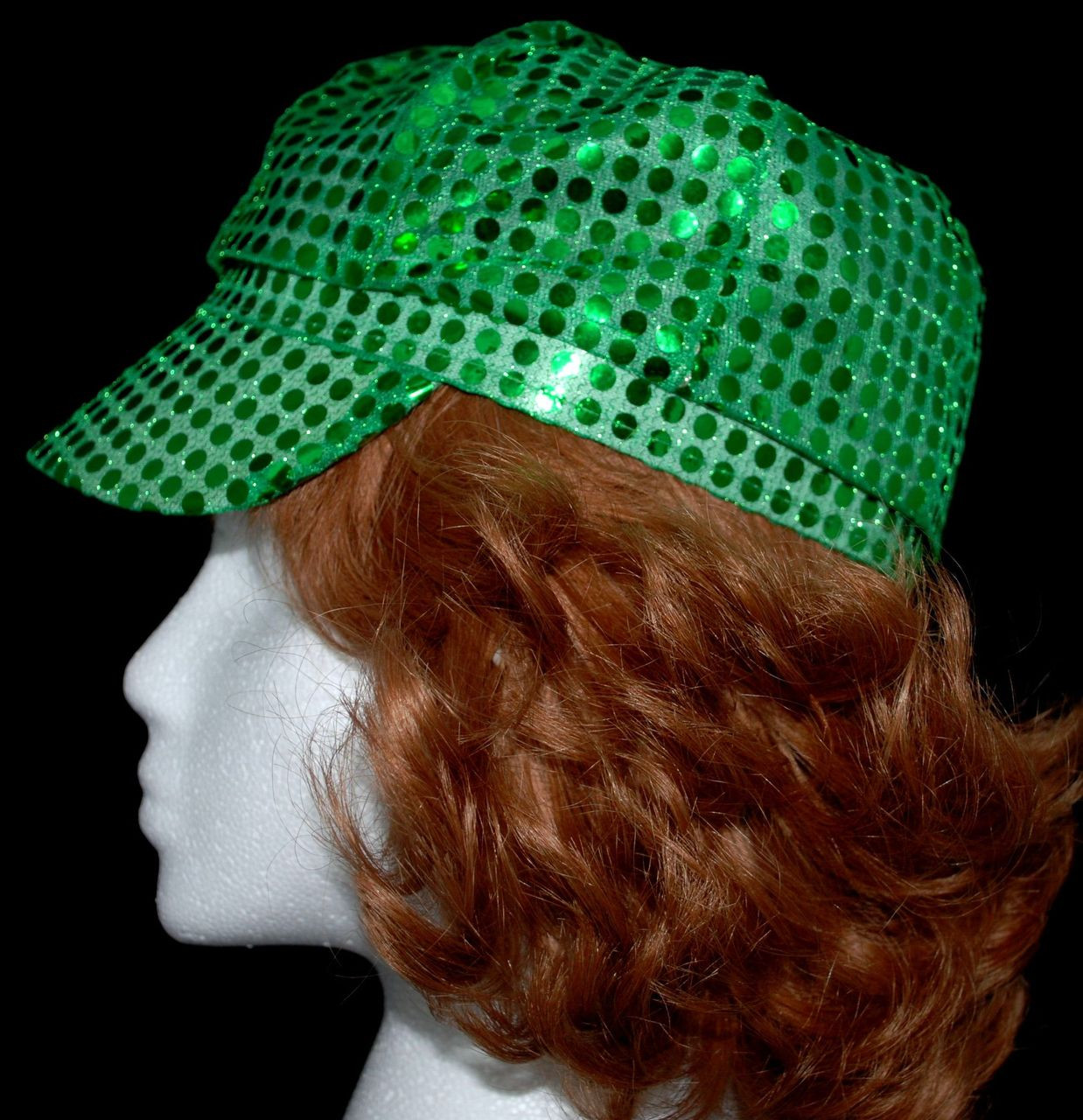 Bling Sequined Fabric Newsboy Cap in choice of colors