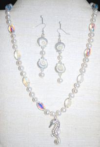 Full view of Sea Horse necklace