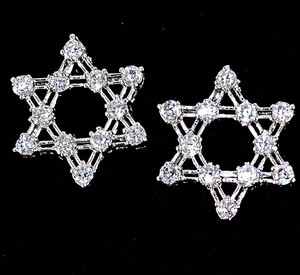 Pair of Star of David Pierced Earrings