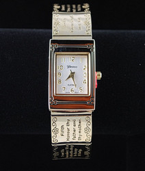 Gold-tone watch front view