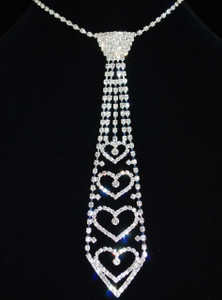 Full view of necktie necklace