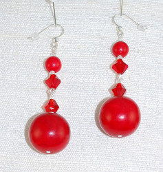 Close up view of Drop Earrings