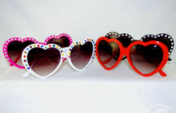 Group shot of Red,Black,White and Pink frames. Choose choice of crystals