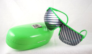 View of sunglasses w/matching hard case (found on site)
