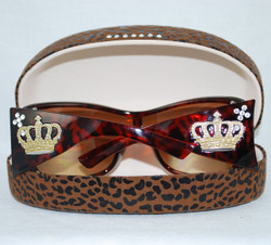 Rear view of sunglasses fitting inside