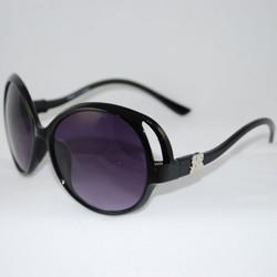 """Liz Claiborne"" 3/4 Black Sunglasses w/o crystals"