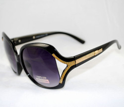 3/4 view of Zipper arms on Sunglasses