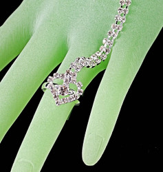 Close up view of heart ring
