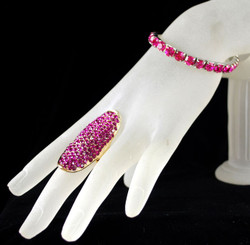 Add this oblong pink crystal ring too!