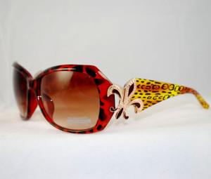 3/4 view of Jaguar print sunglasses