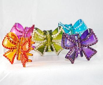 5 color choices of Swarovski Crystal medium hair clips