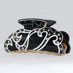 Black version w/ white wavy pattern