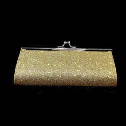 Front view of evening bag w/clasp