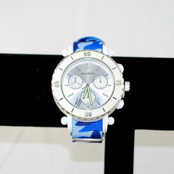 Front view of unisex camo watch