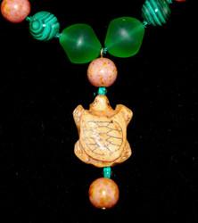 Close up of Turtle Pendant