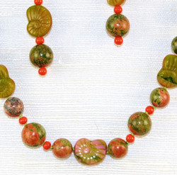 Closer detail of beads