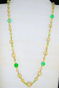 "Full view of 25"" hand-beaded/knotted necklace"