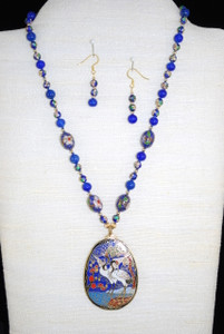 Full front view of necklace set