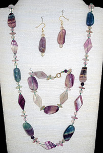 Full view of 3 piece necklace set