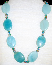 """Front full view of stone beads of 22"""""""