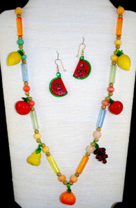 Full view of glass necklace set