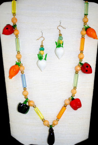 Full view of Vegetable glass beads