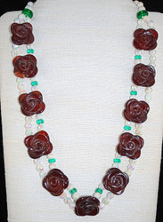 Full view of double strand necklace