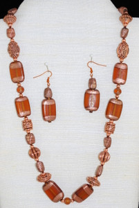 Full view of Dark Larger necklace set